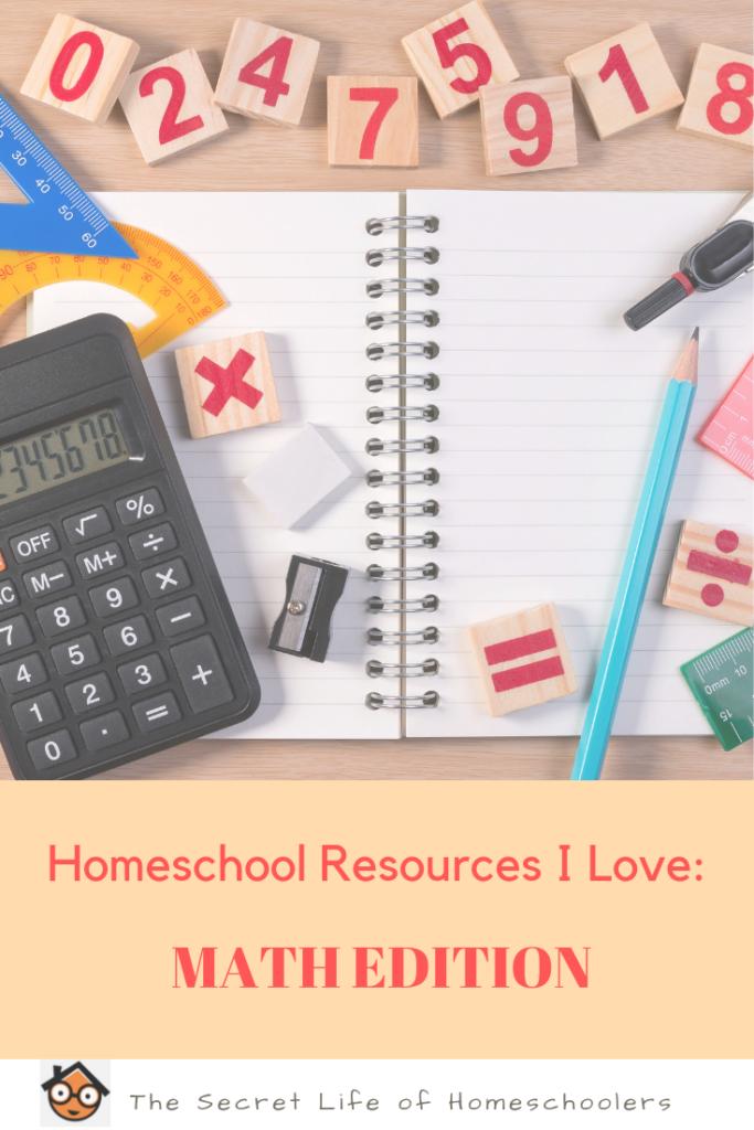 Math resources in homeschool