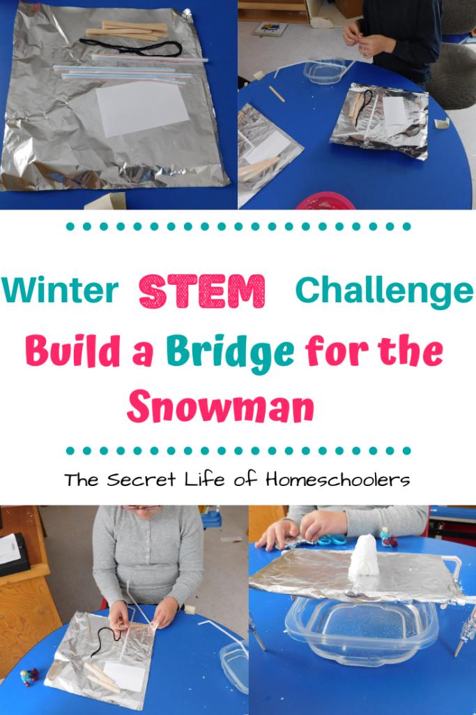 Winter Stem Challenge Snowman Bridge